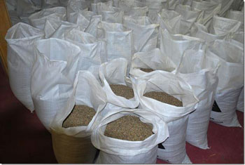 Bags of loose cell cocoons