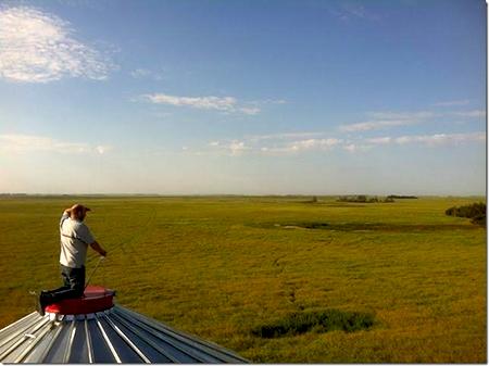 Bird's eye view of the Prairies